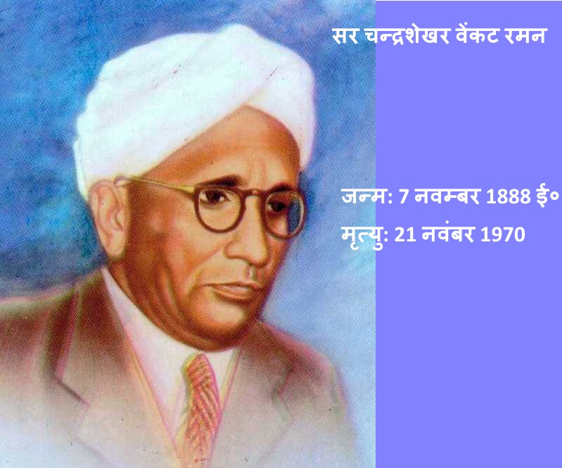 Sir CV Raman Biography In Hindi