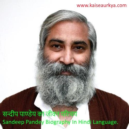 Sandeep Pandey Biography In Hindi