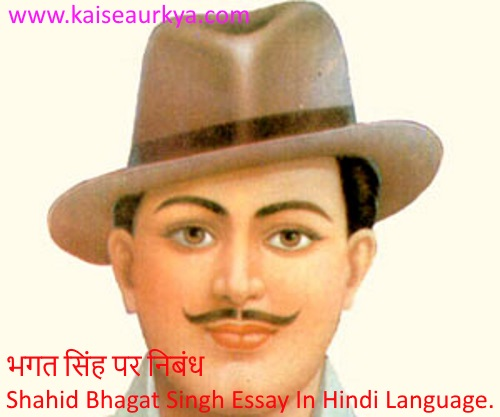 Shahid Bhagat Singh Essay In Hindi