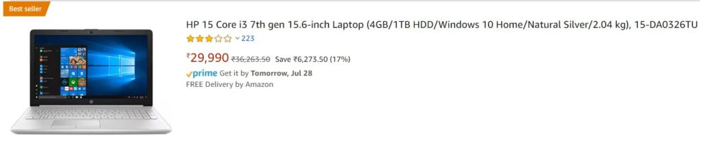 hp laptop under 30000