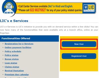 lic e -registration