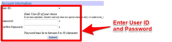 make user name and password in lic